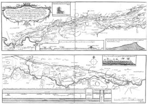 Nathaniel Hill's engraved map for Warburton's Vallum Romanum