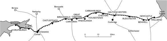 Hadrian's Wall map
